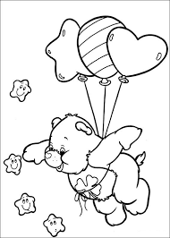 care bears coloring pages flying stars coloringstar