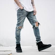 Ripped Knee Jeans Mens Men U0027s Jeans Wholesale Fashion Slim Fit Jeans On Dhgate