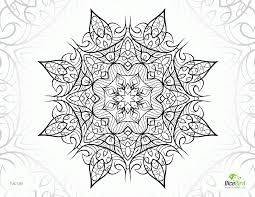 complex flower coloring pages coloring