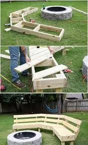 diy curved bench diy curved fire pit bench awesome step tj backyard ideas