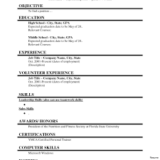 time resume templates simple resume exles for college students student part time