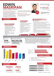 Resume Graphic Resume In Info Graphic Format U2013 Noktah Hitam