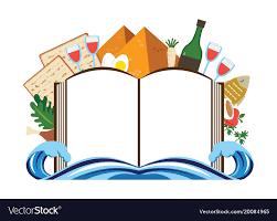 passover book haggadah abstract passover story haggadah book vector image
