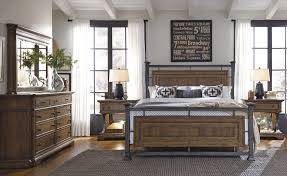Pulaski Bedroom Furniture by Reddington Wood And Metal Bedroom Set By Pulaski Furniture Home