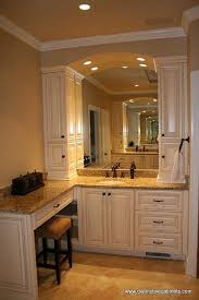 Bathroom Vanity With Side Cabinet Bath Vanity With Tower Storage On Either Side Of The Sink For