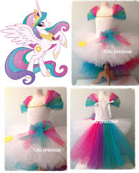 ebay halloween props princess celestia my little pony inspired tutu dress dressing up