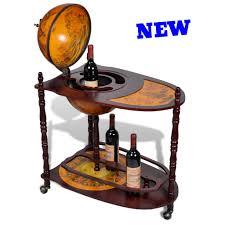 Map Cabinet Old Map Globe Bar Cabinet Table Trolley Cart Wine Liquor Bottle