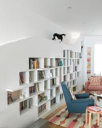 Cat Wall Furniture A Charming Home For Two Cats And Their Book Loving Humans