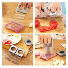 stainless steel onion holder slicer no more stinky hands kitchen