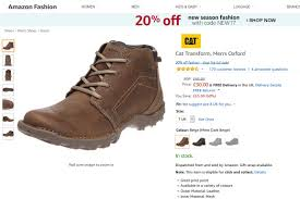 s boots amazon uk cat transform s oxford boots size 7 uk 30 was 95 at amazon