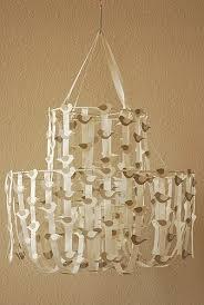 pottery barn knock off lighting diy ribbon chandelier chandeliers pinterest ribbon chandelier