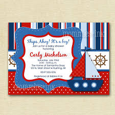 nautical baby shower invitations nautical invitations for baby shower mod bright sailboat baby
