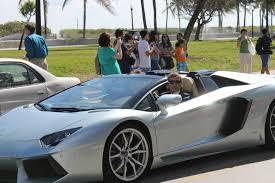 Lamborghini Aventador Convertible - lamborghini aventador roadster takes over south beach in miami