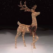 48 deer buck reindeer lighted indoor outdoor yard