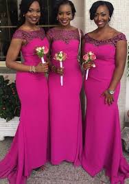 wedding dresses for of honor fuchsia custom made south mermaid bridesmaid dresses