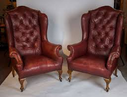 Leather Tufted Chairs Furniture Wingback Chair Wing Arm Chairs Tall Wingback Chairs