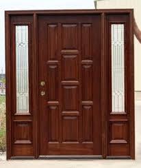 Wooden Door Design Dayar Wooden Front Door Hpd458 Solid Wood Doors Al Habib Panel