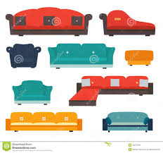 armchairs and sofas flat style stock vector image 40572250