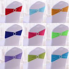 wholesale chair covers wholesale 100pcs lot spandex lycra wedding chair cover sash bands