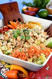 thai chicken chopped salad with peanut dressing