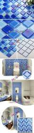 sea glass tile blue shower wall mosaic kitchen blue tiles bathroom