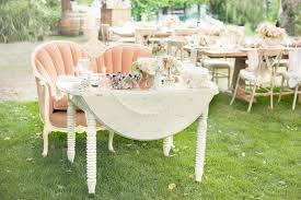 reception décor photos shabby chic sweetheart table inside