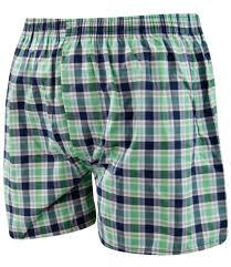 6 pack mens woven check print poly cotton boxer shorts