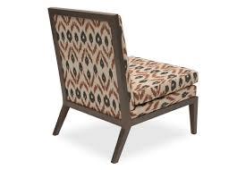 Armless Slipper Chair Slipper Chair Chittoor Ikat Dark Ash