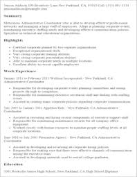 Resume Templates For Administration Job by Administrative Resume Templates To Impress Any Employer Livecareer