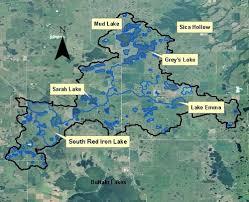 South Dakota lakes images Northeast south dakota glacial lakes watershed red iron lake jpg