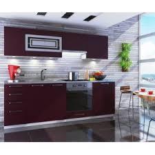 cuisine aubergine dusine cuisine aubergine mat giovana 8 éléments 2m40 pas cher