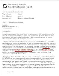 autopsy report sample focus the kurt cobain murder investigation by tom grant ciesynski report page 1