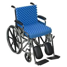 dmi convoluted foam chair pad and seat with back in blue 552 8005
