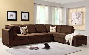 Living Room  Attractive Dark Brown Microfiber Living Room Set - Microfiber living room sets