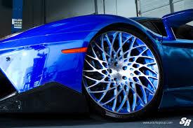 blue chrome lamborghini chrome blue lamborghini aventador by sr auto front wheel close