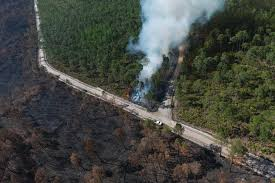 Wildfire Map Manitoba by Fire Scars The Okefenokee Image Of The Day