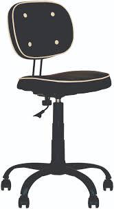 siege capitonné chaise fauteuil de bureau vintage capitonné sans accoudoirs noir