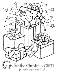25 christmas present colouring pages ideas