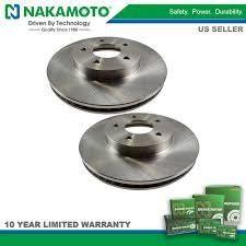 nakamoto front brake rotor pair set for chevy equinox pontiac