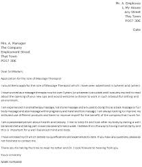 Resume Massage Therapist Epic Massage Therapy Cover Letter 13 On Resume Cover Letter With