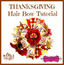 thanksgiving hair bows hair bow tutorials
