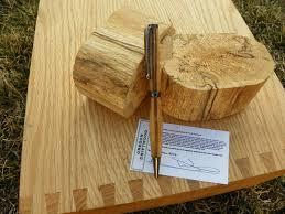 hand crafted oregon driftwood rollerball slim twist pen very