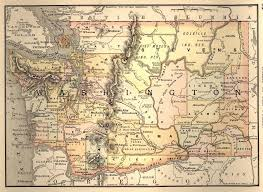 Map Washington A Map Lover U0027s Guide To Washington Circa 1888 Black Diamond Now