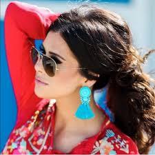 hm earrings 25 h m jewelry h m turquoise fringe beaded tassel earrings