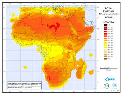 World Map Of Africa by Solar Irradiation Map Of Africa 2005