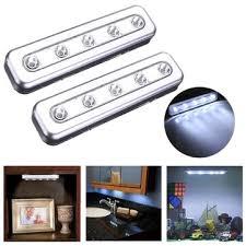 Stick On Led Lights Tap Lights 5 Led Self Stick Under Cabinet Push Night Light Sale