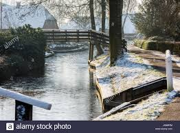 Giethoorn Holland Homes For Sale by Giethoorn The Netherlands January 18 2016 Winterlandscape