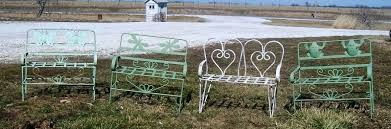 wrought iron child u0027s butterfly bench