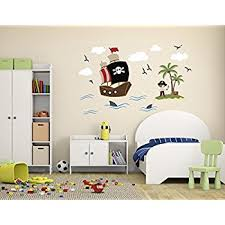Pirate Room Decor Amazon Com Pirate Theme Wall Decal Pirate Wall Decals Nursery