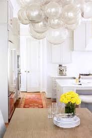 Glass Bubble Chandelier Gray Glass Bubbles Chandelier Over Dining Table Transitional